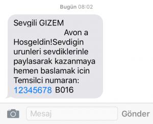 Başvuru Onaylandığında Gelen SMS