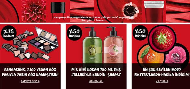 The Body Shop markasına ait ürünler
