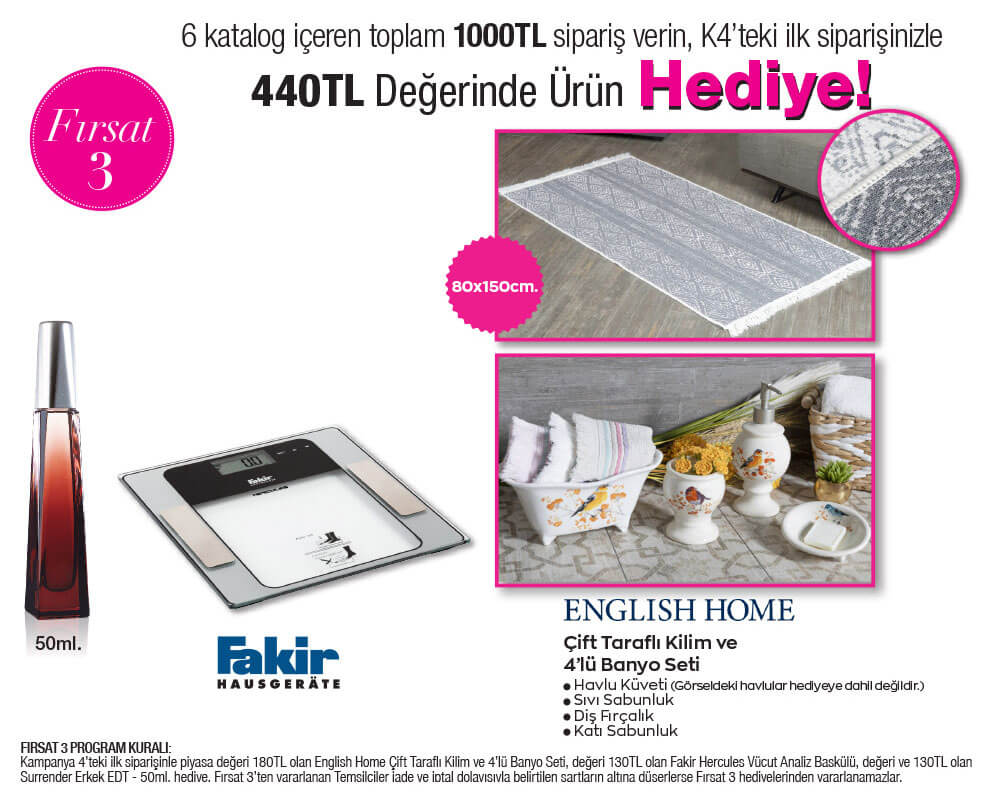 English Home 4'lü banyo seti