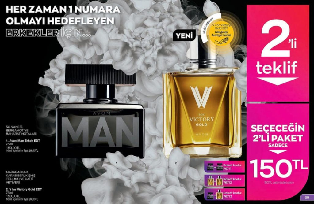 Avon parfüm seti
