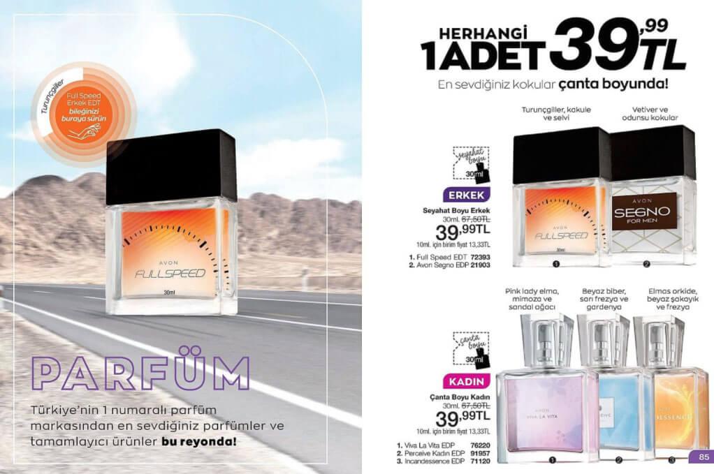 Avon Seyahat parfüm çeşitleri